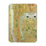 1918 New York Central Railroad Map Rectangle Magnets