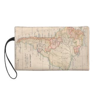1918 South American Map Wristlet Purse