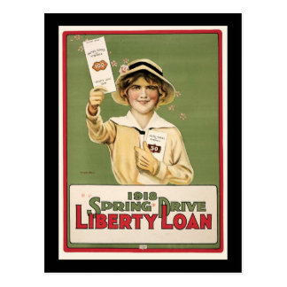 1918 Spring Drive Liberty Loan Post Cards