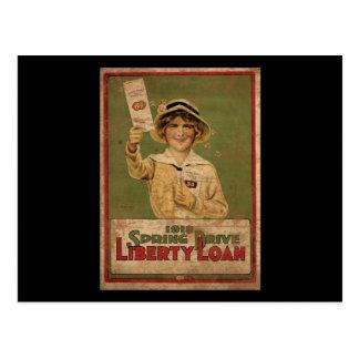 1918 Spring Drive Liberty Loan Postcard