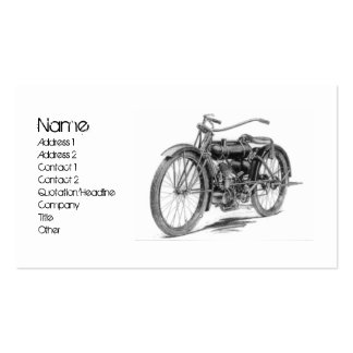 1918 Vintage Motorcycle Double-Sided Standard Business Cards (Pack Of 100)