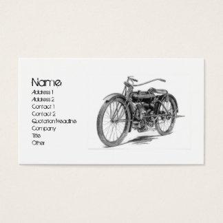1918 Vintage Motorcycle Business Card