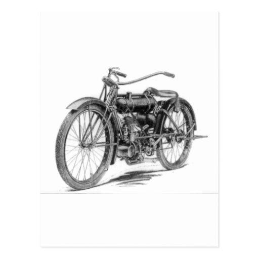 1918 Vintage Motorcycle Postcard