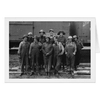 1918 Women Laborers Union Pacific Railroad Card