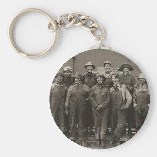 1918 Women Laborers Union Pacific Railroad Keychain