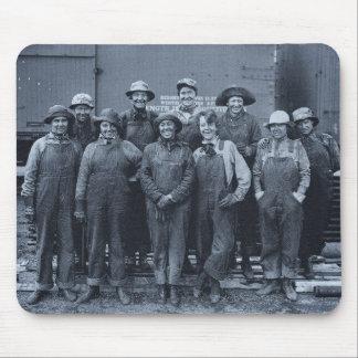1918 Women Laborers Union Pacific Railroad Mousepads