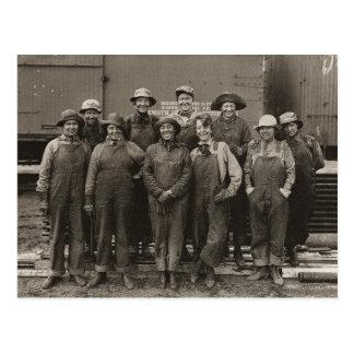 1918 Women Laborers Union Pacific Railroad Postcard