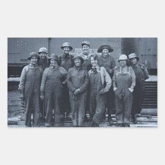 1918 Women Laborers Union Pacific Railroad Rectangular Sticker