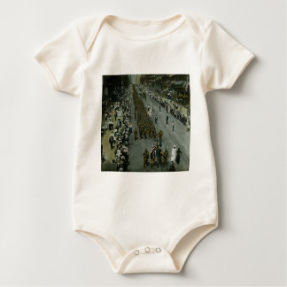 1918 WWI Parade New York City Magic Lantern Slide Baby Bodysuit