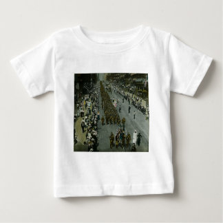 1918 WWI Parade New York City Magic Lantern Slide Baby T-Shirt