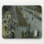 1918 WWI Parade New York City Magic Lantern Slide Mouse Pads