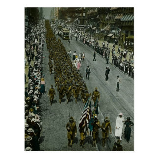1918 WWI Parade New York City Magic Lantern Slide Postcard