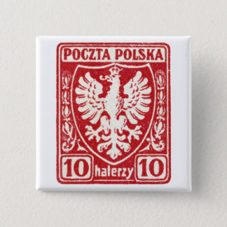 1919 10h Polish Eagle Stamp Button
