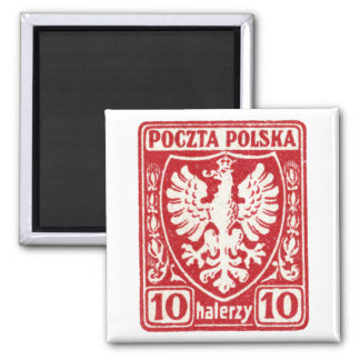 1919 10h Polish Eagle Stamp Fridge Magnets