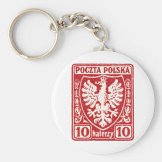 1919 10h Polish Eagle Stamp Key Chain