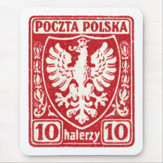 1919 10h Polish Eagle Stamp Mouse Pad
