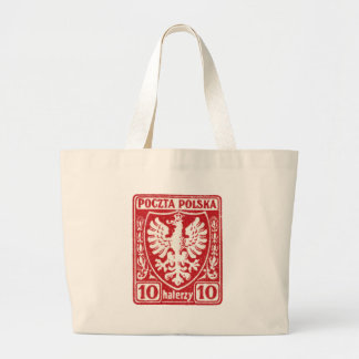 1919 10h Polish Eagle Stamp Tote Bags