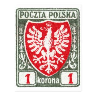 1919 1k Polish Eagle Stamp Post Cards