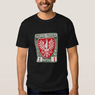 1919 1k Polish Eagle Stamp T Shirt