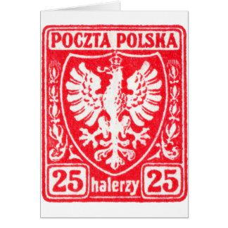 1919 25h Polish Eagle Stamp Cards