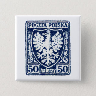 1919 50h Polish Eagle Stamp Button