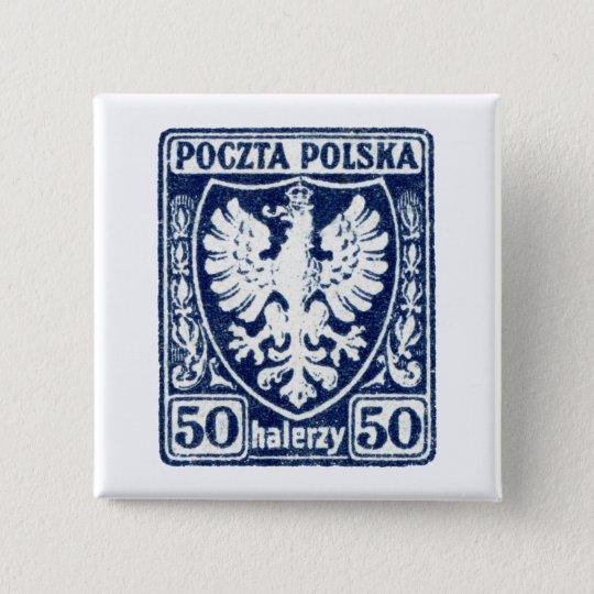1919 50h Polish Eagle Stamp Button