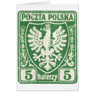 1919 5h Polish Eagle Stamp Card