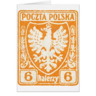 1919 6h Polish Eagle Stamp Greeting Cards