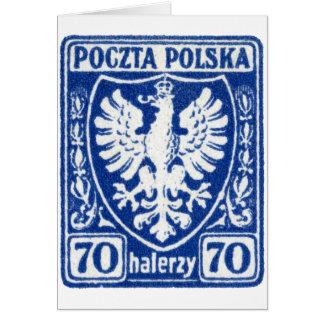 1919 70h Polish Eagle Stamp Greeting Cards