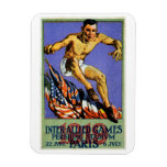 1919 Allied Games Poster Flexible Magnets
