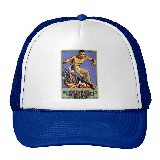 1919 Allied Games Poster Mesh Hats