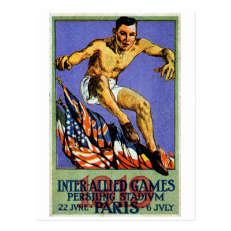 1919 Allied Games Poster Post Card