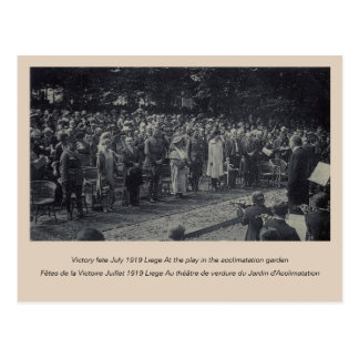 1919 Belgian Royal Family at Victory fete Liege Postcard