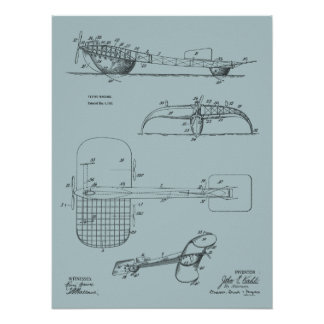 1919 Flying Machine Seaplane Patent Drawing Print