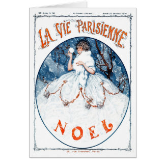 1919!!! FRENCH SNOW QUEEN CHRISTMAS GREETING CARD