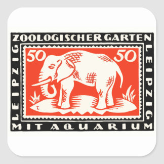 1919 Germany Leipzig Zoo Notgeld Banknote Square Sticker