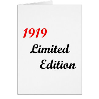 1919 Limited Edition Card