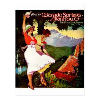 1919 lucios enarbolan el poster de Colorado Tarjeta Postal