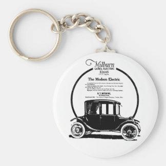 1919 Milburn electric car illustration Basic Round Button Keychain