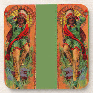 1919 Native American Indian illustration Drink Coaster