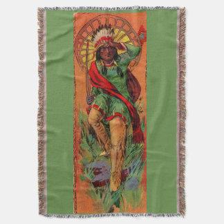1919 Native American Indian illustration Throw