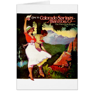1919 Pikes Peak Colorado Poster Card