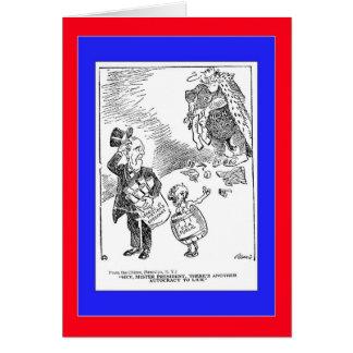 1919 Political Cartoon Card