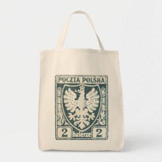 1919 sello polaco de Eagle 2h Bolsas Lienzo