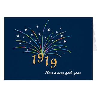 1919 una 96.a tarjeta de felicitación del