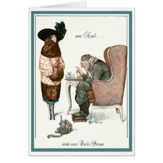 "1919!""VISIT W/ UNCLE SCROOGE"" FRENCH GREETING CARD"