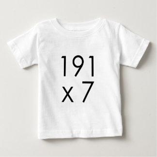 191 x 7 = 1337 Leet | Math Leet L33T Leetspeak Baby T-Shirt