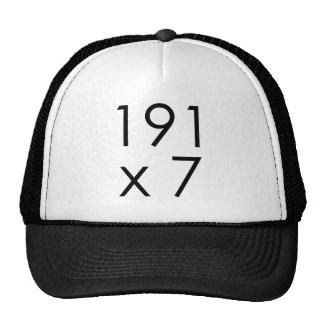 191 x 7 = 1337 Leet | Math Leet L33T Leetspeak Trucker Hat