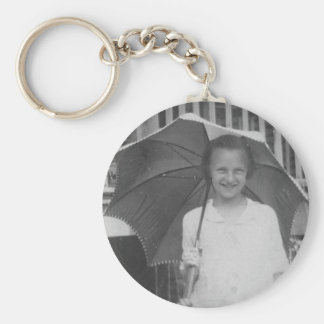 1920-1930's Girl with Umbrella Keychain