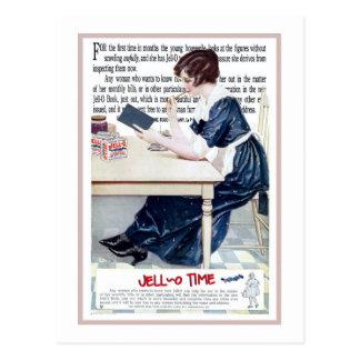 """1920 """"4tos del TIEMPO de JELLO"""" DEL ANUNCIO de Tarjeta Postal"""